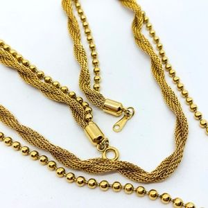 Vintage AVON 2 Strand Gold Tone Necklace